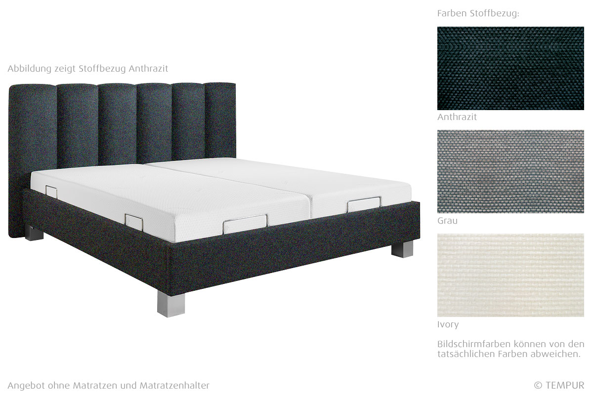 tempur bett prestige motion mit stoffbezug betten prinz gmbh. Black Bedroom Furniture Sets. Home Design Ideas